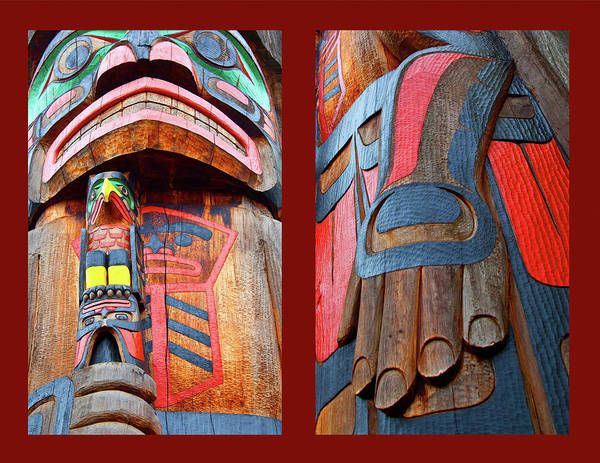 Native American Poster featuring the photograph Totem 2 by Theresa Tahara