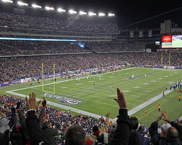Patriots Poster featuring the photograph Touchdown Patriots Nation by Juergen Roth