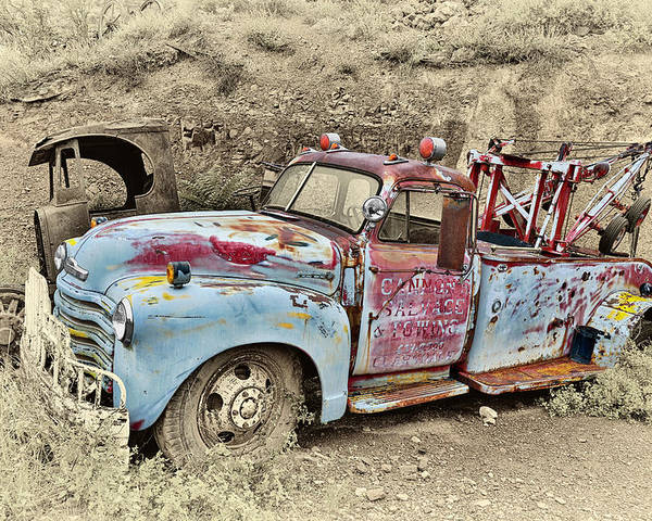 Truck Poster featuring the photograph Tow Truck by Robert Jensen