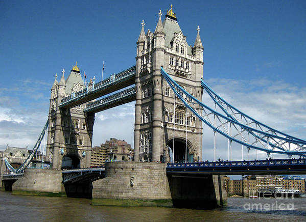 London Poster featuring the photograph Tower Bridge London by Heidi Hermes