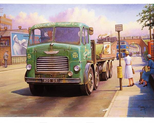 Painting For Sale Poster featuring the painting Tower Hill Transport. by Mike Jeffries