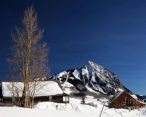 Crested Butte Poster featuring the photograph Towering Above Crested Butte by Adam Jewell