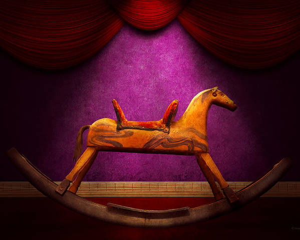 Horse Poster featuring the photograph Toy - Hobby Horse by Mike Savad
