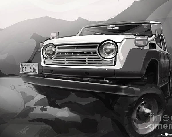 Digital Artwork Poster featuring the painting Toyota Fj55 Land Cruiser by Uli Gonzalez