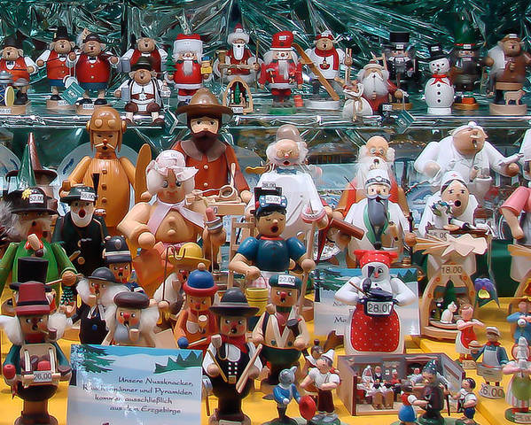 Baubles Poster featuring the photograph Toys And Nutcrackers For Sale by Ronda Broatch