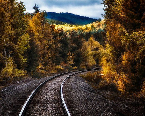 Trains Poster featuring the photograph Tracks Through The Mountains by Bob Orsillo