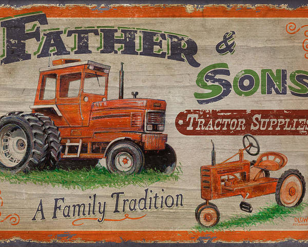 Joe Low Poster featuring the painting Tractor Supplies by JQ Licensing