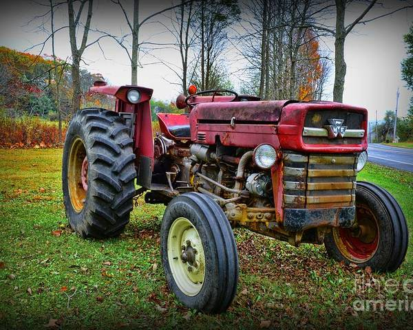Paul Ward Poster featuring the photograph Tractor - The Farmers Car by Paul Ward
