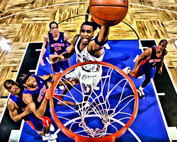 National Poster featuring the painting Tracy Mcgrady Painting by Florian Rodarte