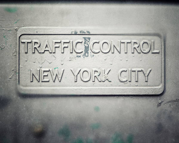 New York City Poster featuring the photograph Traffic Control by Lisa Russo
