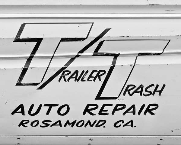 Auto Repair Poster featuring the photograph Trailer Trash by Phil 'motography' Clark