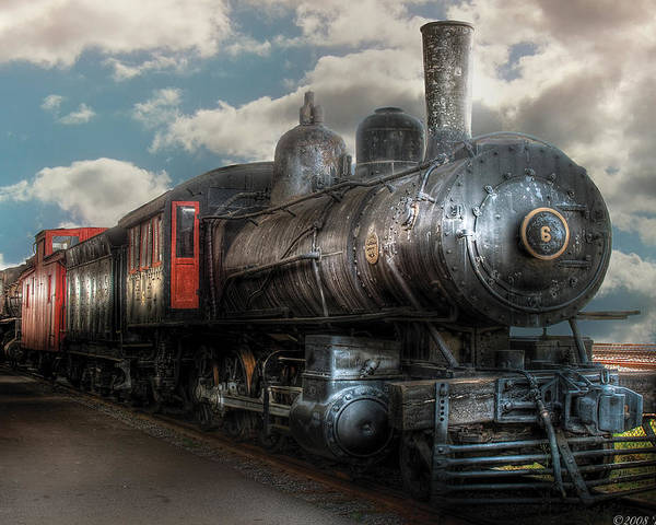 Savad Poster featuring the photograph Train - Engine - 6 Nw Class G Steam Locomotive 4-6-0 by Mike Savad