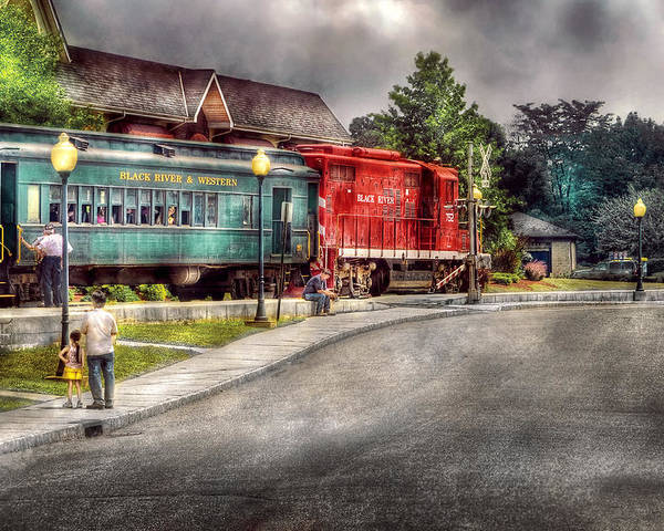 Savad Poster featuring the photograph Train - Engine - Black River Western by Mike Savad