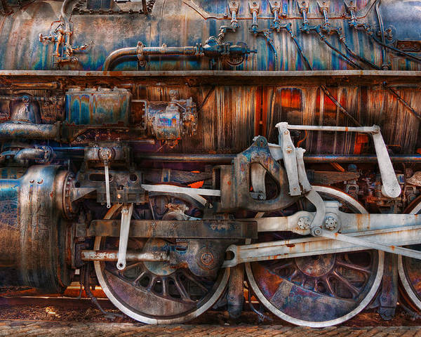 Savad Poster featuring the photograph Train - With Age Comes Beauty by Mike Savad