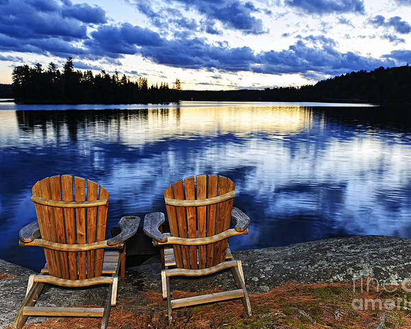 Lake Poster featuring the photograph Tranquility by Elena Elisseeva