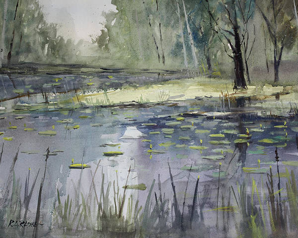 Landscape Poster featuring the painting Tranquillity by Ryan Radke