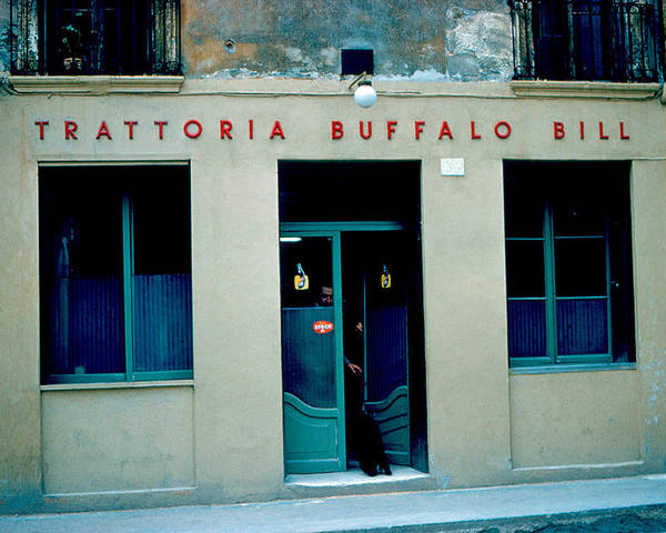 Vicenza Poster featuring the photograph Trattoria Buffalo Bill 1962 by Cumberland Warden