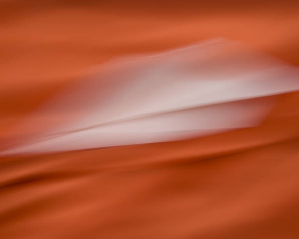 Abstract Red Poster featuring the photograph Angel Traversing Dimensions by Charm Angels