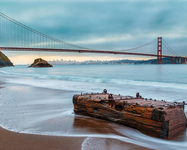 Afternoon Poster featuring the photograph Treasure And The Golden Gate Bridge by Sarit Sotangkur