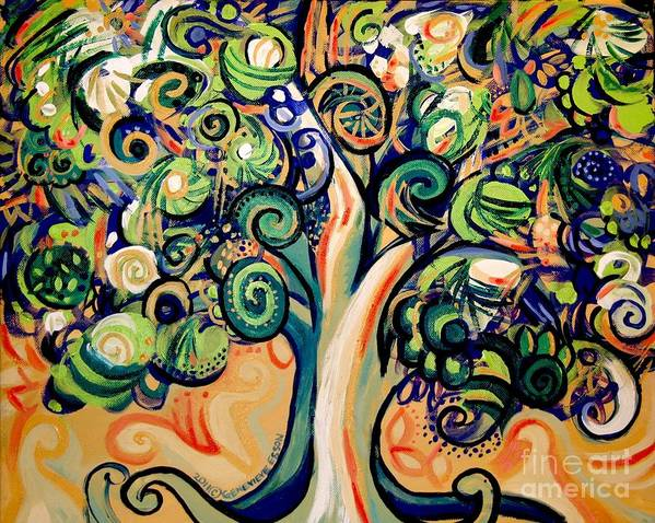 Tree Poster featuring the painting Tree Candy 2 by Genevieve Esson
