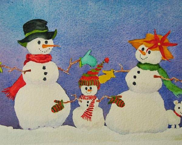 Winter Poster featuring the painting Tres Chic by Mary Ellen Mueller Legault