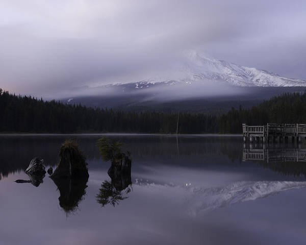 Lake Poster featuring the photograph Trillium Lake by Curtis Knight