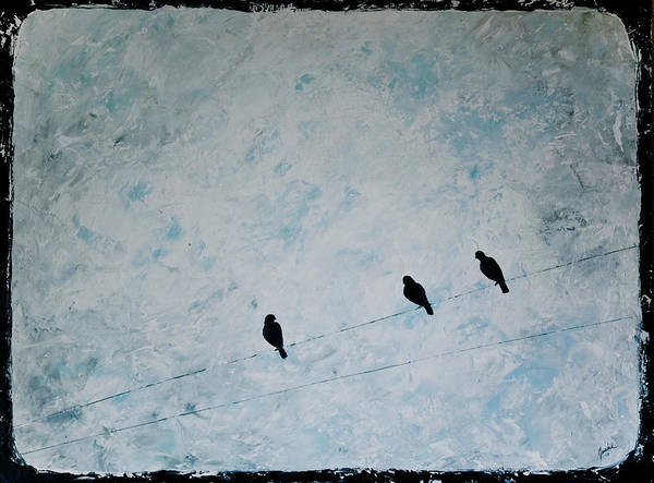 Birds Poster featuring the painting Trio by Jesska Hoff