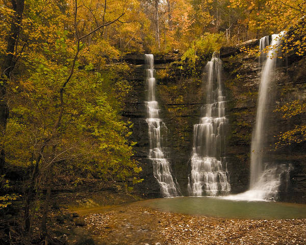 Landscape Poster featuring the photograph Triple Falls by Ryan Heffron