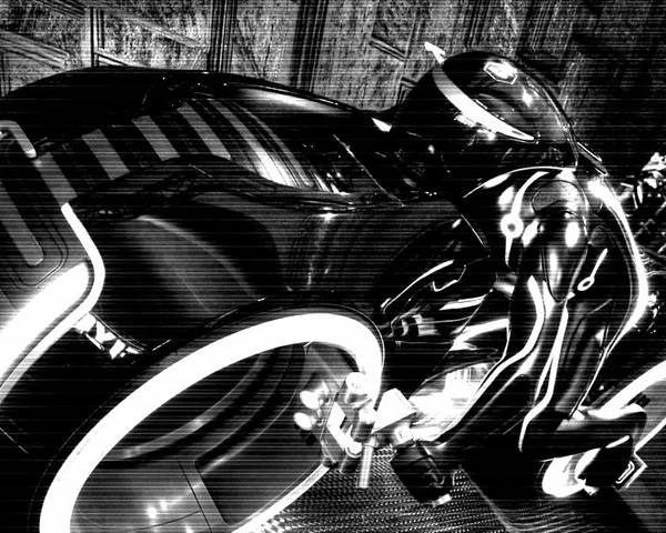 Tron Poster featuring the photograph Tron Motor Cycle by Michael Hope