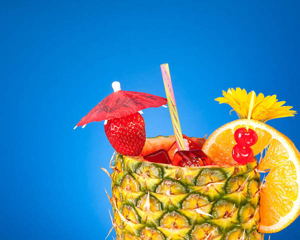 Cocktail Poster featuring the photograph Tropical Drink by Joe Belanger