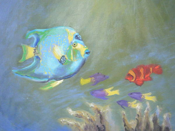 Tropical Poster featuring the painting Tropical Fish by Patricia Kimsey Bollinger