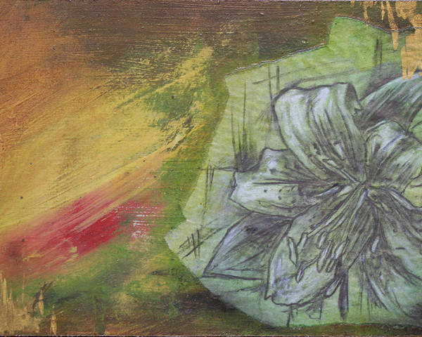 Floral Poster featuring the mixed media Tropical Lily No. 1 by Bhreon Bynum
