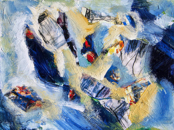 Abstract Poster featuring the painting Tsunami 2 by Dominic Piperata