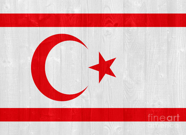 Turkish Poster featuring the photograph Turkish Republic Of Northern Cyprus Flag by Luis Alvarenga