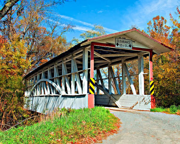 Turner's Covered Bridge Poster featuring the photograph Turner's Covered Bridge by Steve Harrington