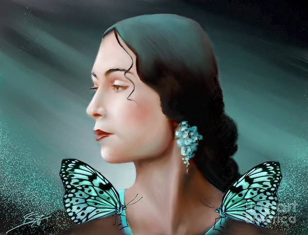 Beauty Poster featuring the painting Turquoise Poetry by S G