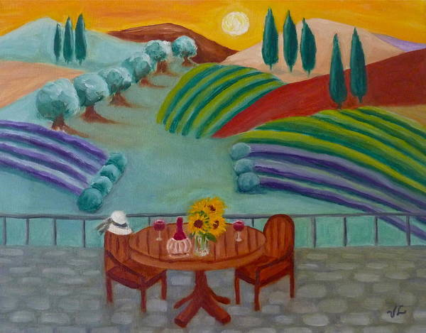 Tuscany Poster featuring the painting Tuscan Dreams by Victoria Lakes
