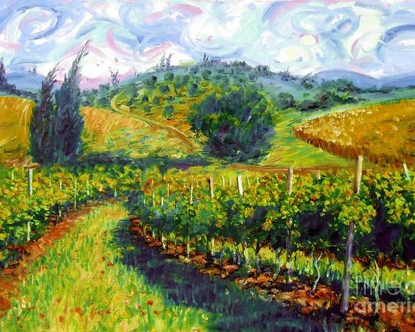 Hills Of Tuscany Poster featuring the painting Tuscan Wind by Michael Swanson