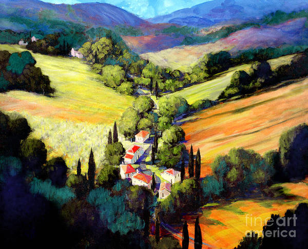 Tuscan Valley Poster featuring the painting Tuscany by Michael Swanson