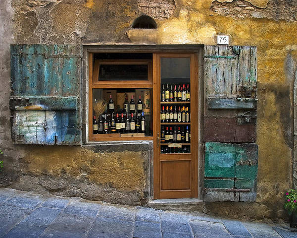 Italy Poster featuring the photograph Tuscany Wine shop by Al Hurley