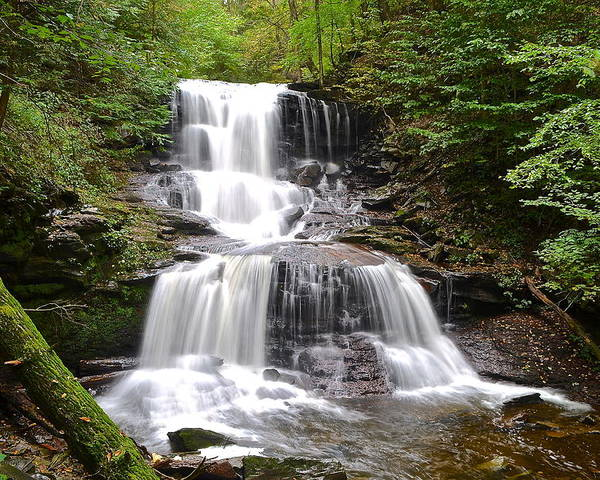 Waterfall Poster featuring the photograph Tuscarora Falls by Frozen in Time Fine Art Photography