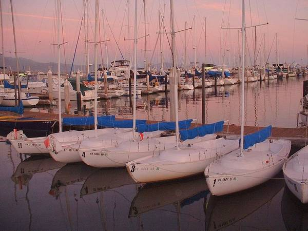 Boats Poster featuring the photograph Twilight At The Harbor by T Nuernberg-Benesh