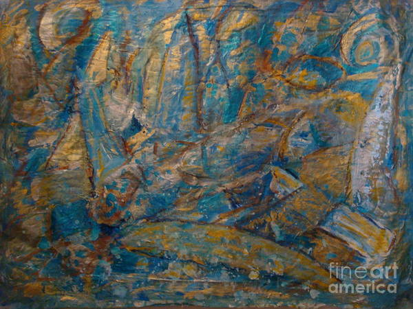Sea Scape Poster featuring the painting Twilight Sails by Fereshteh Stoecklein