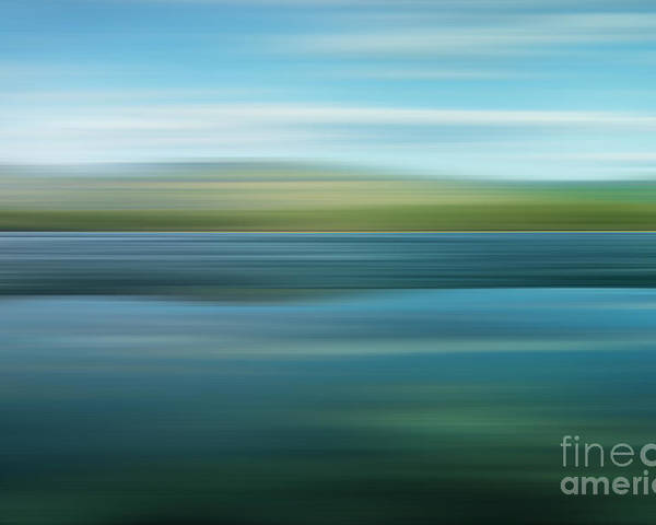 Impressionistic Poster featuring the photograph Twin Lakes by Priska Wettstein
