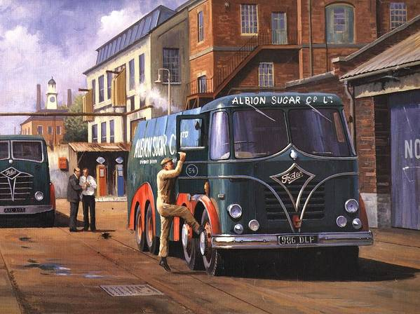 Foden Poster featuring the painting Two Fodens by Mike Jeffries