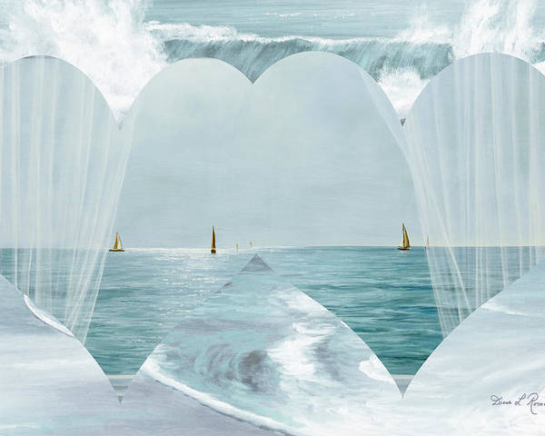 Hearts Poster featuring the painting Two Hearts As One by Diane Romanello