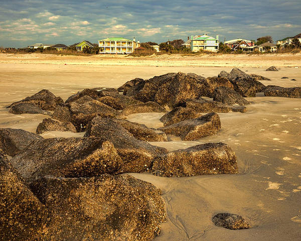 Tybee Island Poster featuring the photograph Tybee Island Landscape by Diana Powell