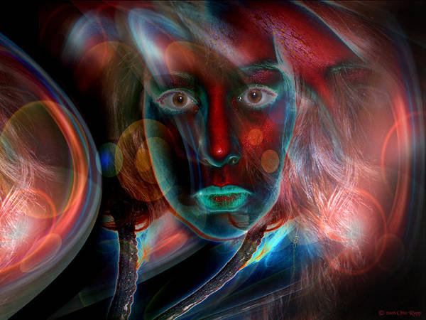 Portrait Poster featuring the digital art Umbilical Connection To A Dream by Otto Rapp