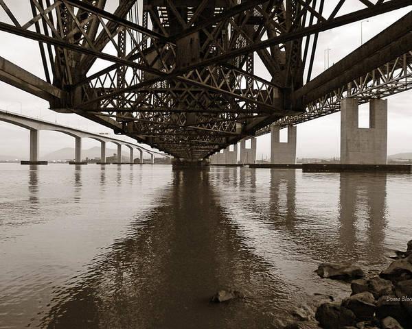 Bridges Poster featuring the photograph Under Bridges by Donna Blackhall