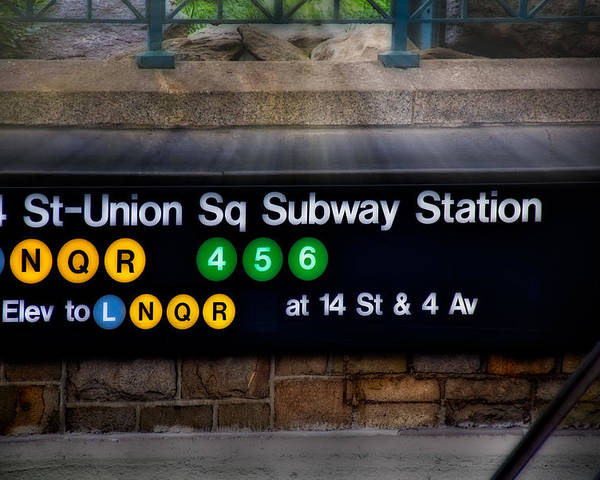 Union Square Poster featuring the photograph Union Square Subway Station by Susan Candelario